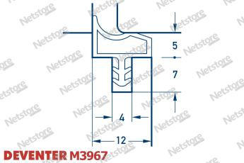 уплотнитель Deventer M 680, ущільнювач для міжкімнатних дверей девентер м 680