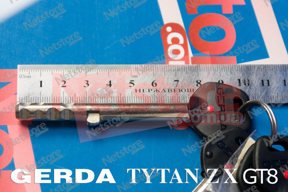 замок Gerda Tytan ZX c коротким ключом