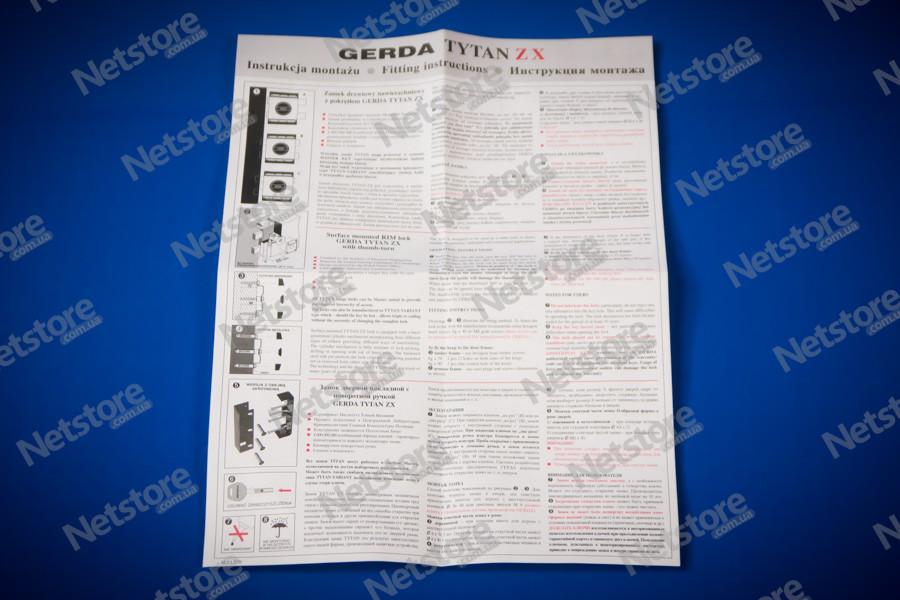Gerda Tytan ZX GT 8 инструкция